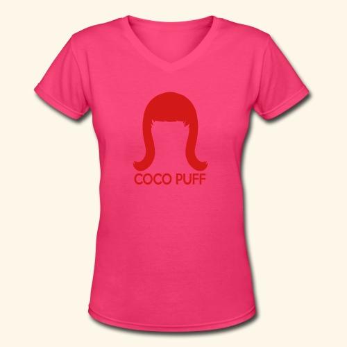 Coco Puff Logo - Women's V-Neck T-Shirt - Women's V-Neck T-Shirt