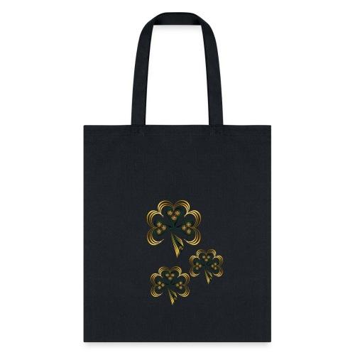 Gold Trimmed Shamrock - Tote Bag
