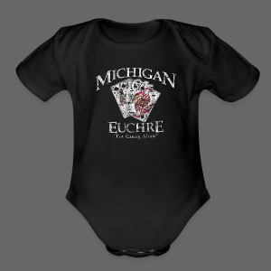 Michigan Euchre - Short Sleeve Baby Bodysuit