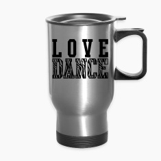 Love Dance Zebra Bottles & Mugs