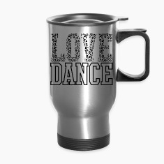 Love Dance Cheetah Print Black Bottles & Mugs
