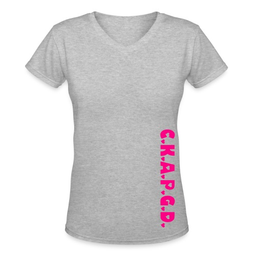 Can't Keep A Passionate Girl Down Side-Swiper V-Neck - Women's V-Neck T-Shirt