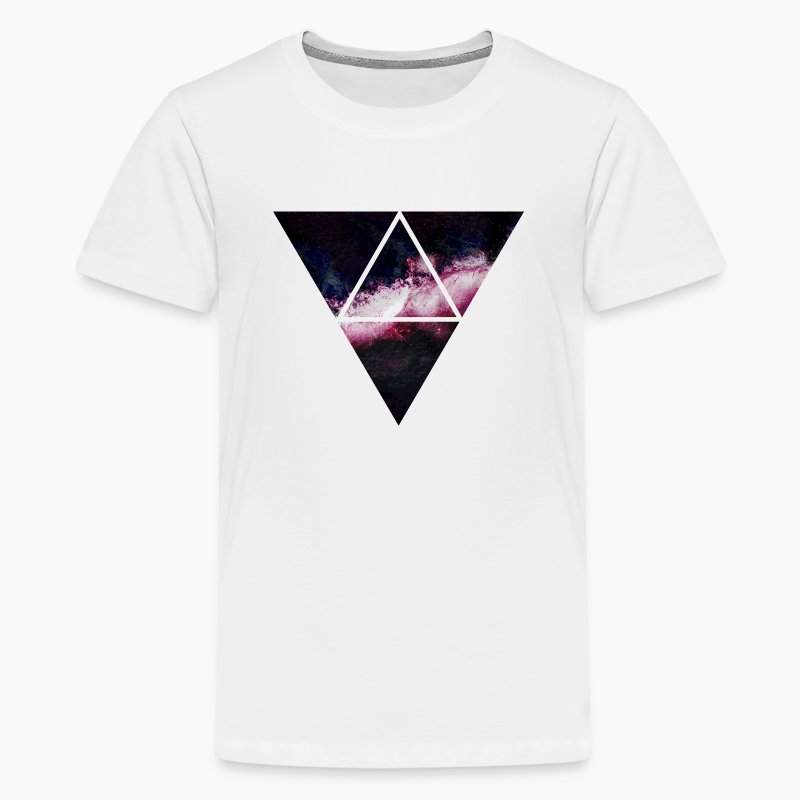 Triangle galaxy t shirt spreadshirt for Galaxy white t shirts wholesale