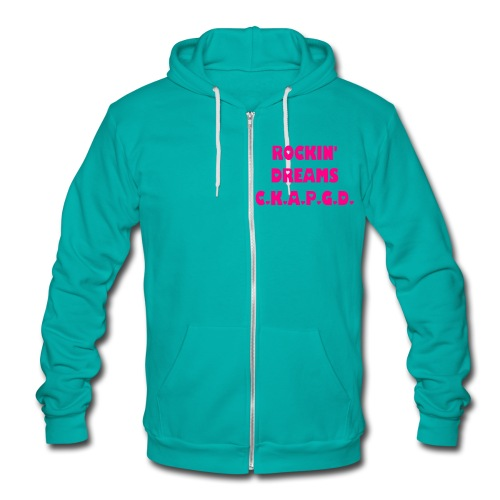 Can't Keep A Passionate Girl Down Rockin' Dreams Hoodie - Unisex Fleece Zip Hoodie by American Apparel