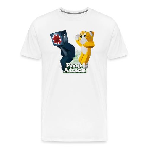 Poop Attack - Men's Premium - Men's Premium T-Shirt