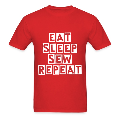 Eat. Sleep. Sew. Repeat - Men's T-Shirt