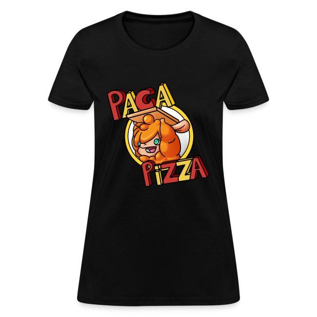 Paca Pizza Logo Ladies Tee