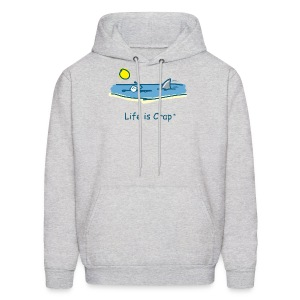 Swimming with Sharks - Mens Hooded Sweatshirt - Men's Hoodie