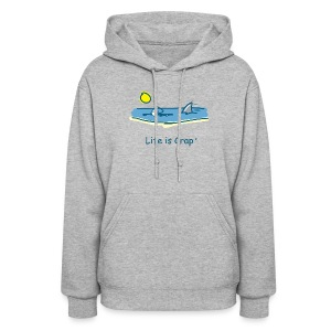 Swimming with Sharks - Womens Hooded Sweatshirt - Women's Hoodie