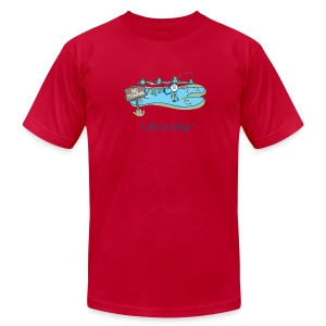 Posted No Fishing - Men's Tee by American Apparel - Men's T-Shirt by American Apparel