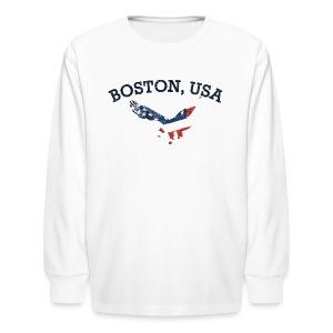 Boston USA Eagle - Kids' Long Sleeve T-Shirt