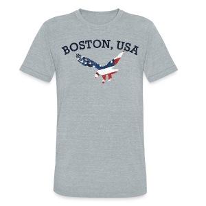 Boston USA Eagle - Unisex Tri-Blend T-Shirt