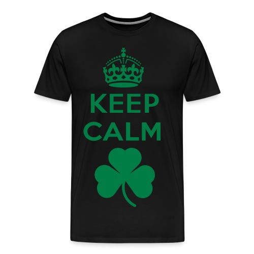 Keep Calm Shamrock - Men's Premium T-Shirt