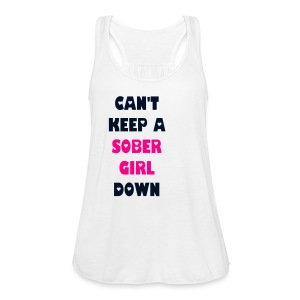 Can't Keep A Sober Girl Down Black Glitter-Tank - Women's Flowy Tank Top by Bella