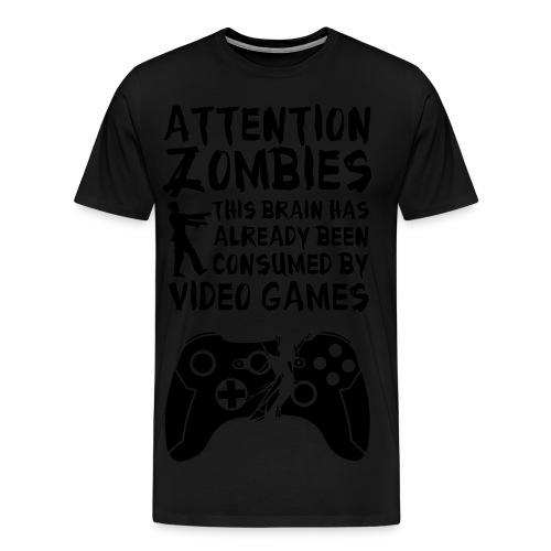 Zombie Gamer T-shirt - Men's Premium T-Shirt