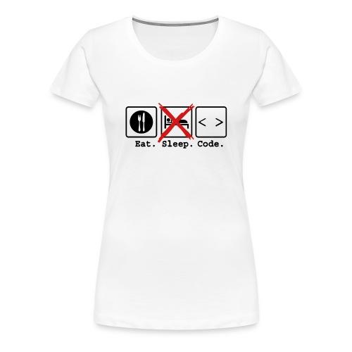 Eat Sleep Code Women's - Women's Premium T-Shirt