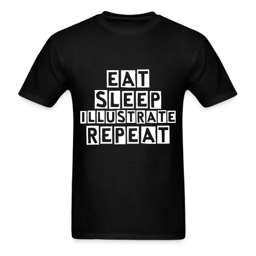 Eat. Sleep. Illustrate. Repeat - Men's T-Shirt
