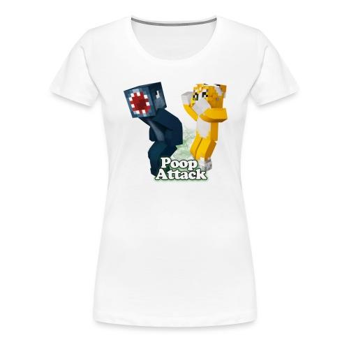 Poop Attack - Women's Premium - Women's Premium T-Shirt