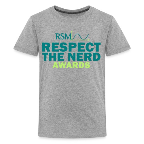 Gray - Respect The Nerd Awards Shirt - Kids' Premium T-Shirt