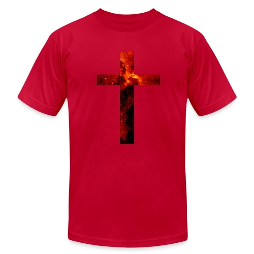 Red Galaxy Cross - Men's Fine Jersey T-Shirt