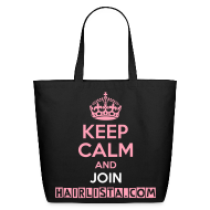 Bags & backpacks ~ Eco-Friendly Cotton Tote ~ Keep Calm Hairlista Tote
