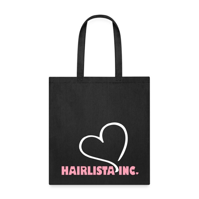 Heart Hairlista Inc.Tote - Black - Tote Bag