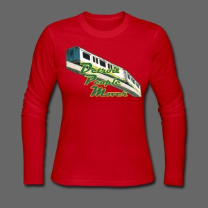 Detroit People Mover - Women's Long Sleeve Jersey T-Shirt