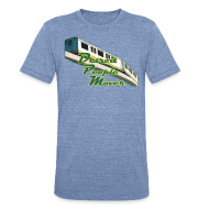 T-Shirts ~ Unisex Tri-Blend T-Shirt ~ Detroit People Mover