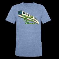 T-Shirts ~ Unisex Tri-Blend T-Shirt ~ Detroit People Mover