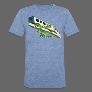 Detroit People Mover - Unisex Tri-Blend T-Shirt by American Apparel
