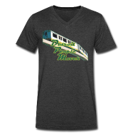 T-Shirts ~ Men's V-Neck T-Shirt by Canvas ~ Detroit People Mover