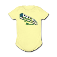 Baby Bodysuits ~ Baby Short Sleeve One Piece ~ Detroit People Mover