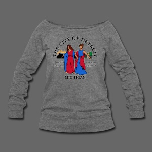 Detroit Flag - Women's Wideneck Sweatshirt