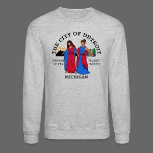 Detroit Flag - Crewneck Sweatshirt