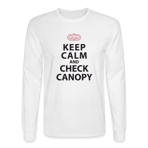 KEEP CALM AND CHECK CANOPY - Men's Long Sleeve T-Shirt