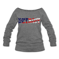 Long Sleeve Shirts ~ Women's Wideneck Sweatshirt ~ A Detroit Flag