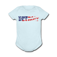 Baby & Toddler Shirts ~ Baby Short Sleeve One Piece ~ A Detroit Flag