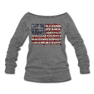 Long Sleeve Shirts ~ Women's Wideneck Sweatshirt ~ Detroit, USA