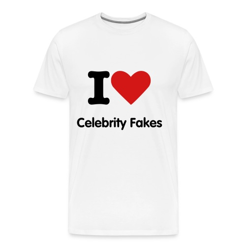 I Love Celebrity Fakes - Men's Premium T-Shirt