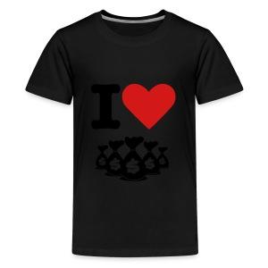 I Heart Money! - Kids' Premium T-Shirt