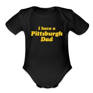 Pittsburgh Baby Onsie - Short Sleeve Baby Bodysuit
