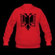 Hoodies ~ Women's Hoodie ~ Albanian Eagle Hoodies