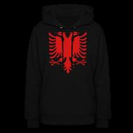 Hoodies ~ Women's Hoodie ~ Albanian Eagle Hoodie