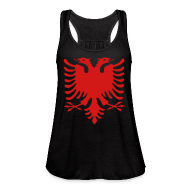 Tanks ~ Women's Flowy Tank Top by Bella ~ Albanian Eagle Tank (Womens)