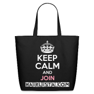 Bags & backpacks ~ Eco-Friendly Cotton Tote ~ Keep Calm Hairlista Tote - White