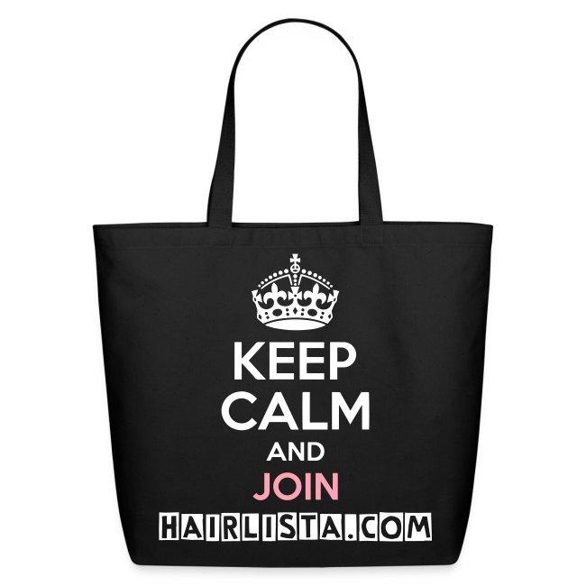 Keep Calm Hairlista Tote - White