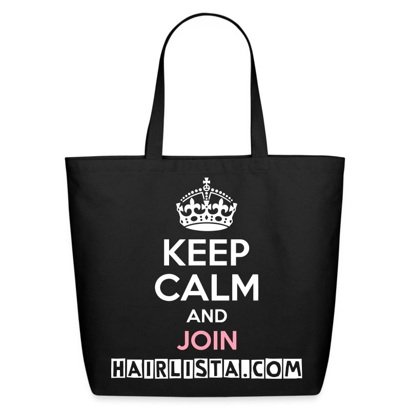 Keep Calm Hairlista Tote - White - Eco-Friendly Cotton Tote