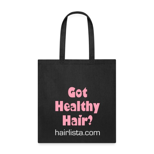 Got Healthy Hair Tote - Black - Tote Bag