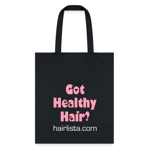 Got Healthy Hair Tote - Black - Tote Bag