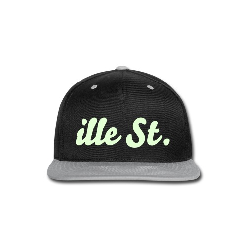 TDK ille St. Glow In The Dark Black & Gray Snapback - Snap-back Baseball Cap